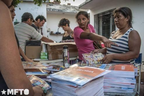 Las cooperativas lograron la entrega de materiales escolares a través de la organización y movilización.