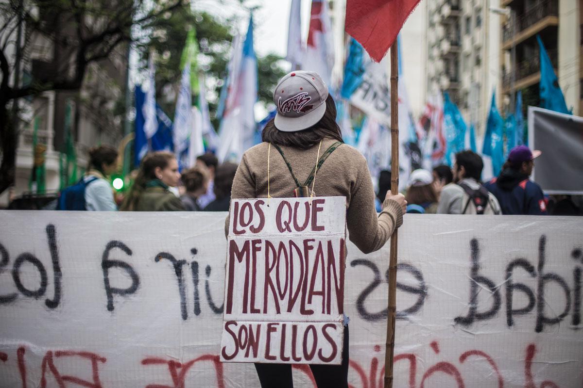Resultado de imagen para fotos marcha de la gorra colectivo manifiesto