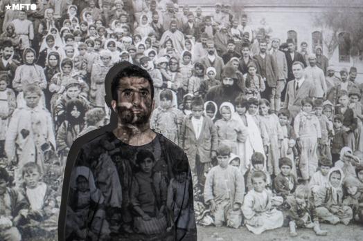 Gregorio Tatian (27 años) nieto de exiliados y sobrevivientes armenios.